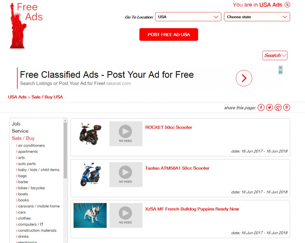 Sale or Buy your items in Internet in site for classifieds
