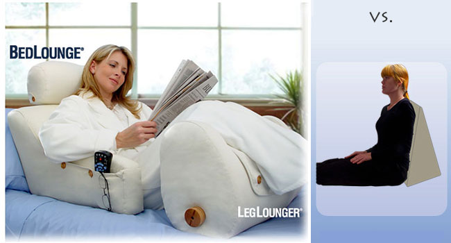 BedLounge Relaxing Support Pillow Recovery Reading