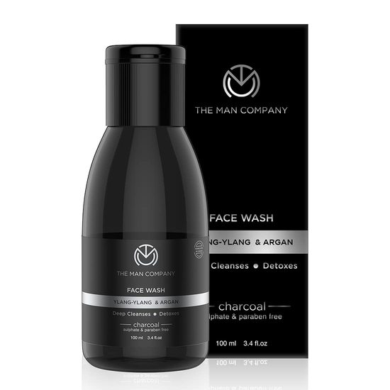 Charcoal Face Wash for Men Skin Brightening Face Wash The Man Company