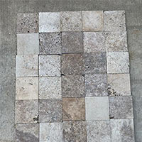 Classic Travertine Honed Tumbled Unfilled Paver 200x200x20mm