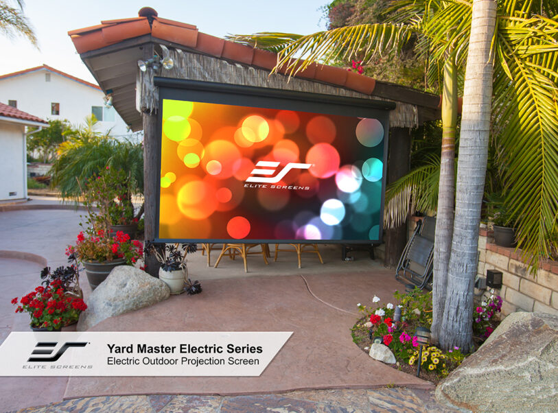 Get In Touch With Elite Screens Inc To Get The Best DIY backyard projection...