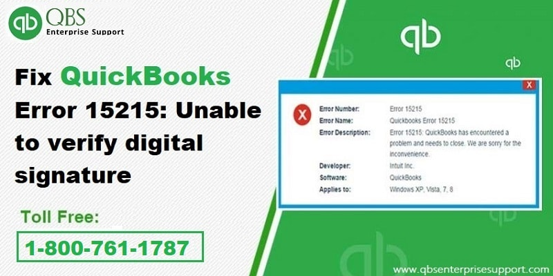 What is the Solution of QuickBooks Update Error Code 15215?