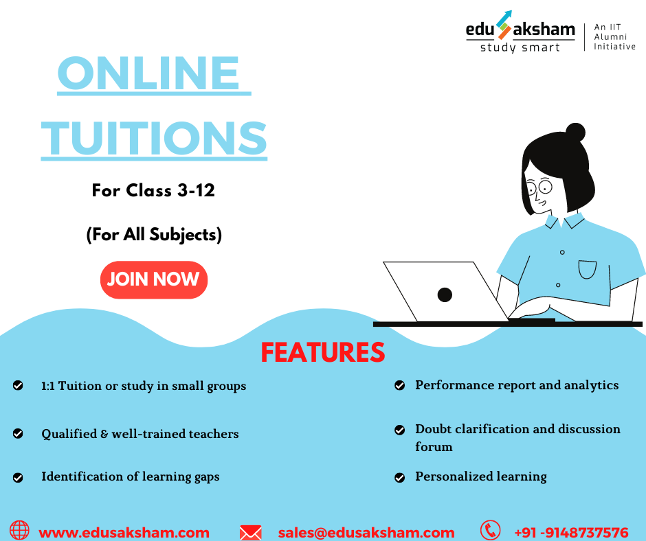 Best Online Tuition from class 312 in Bangalore