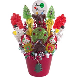 Christmas Candy Bouquet Delivery Send Juicy Christmas Candy Bouquets