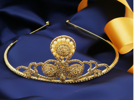 Latest crown for girls collection at Anuradha Art jewellery.