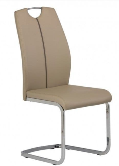 Aggie Latte Faux Dining Chair