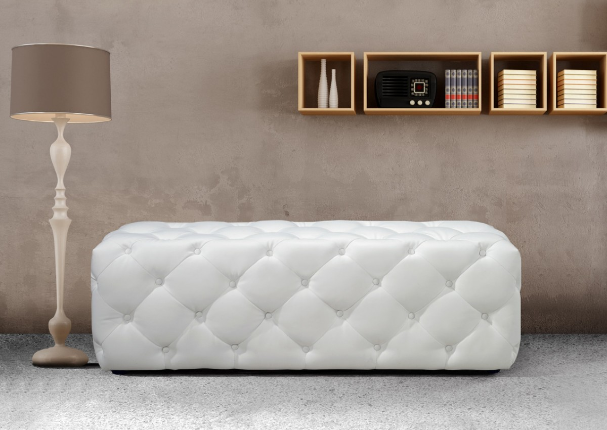Buy Maria Modern White Ecoleather Bench Collection Online