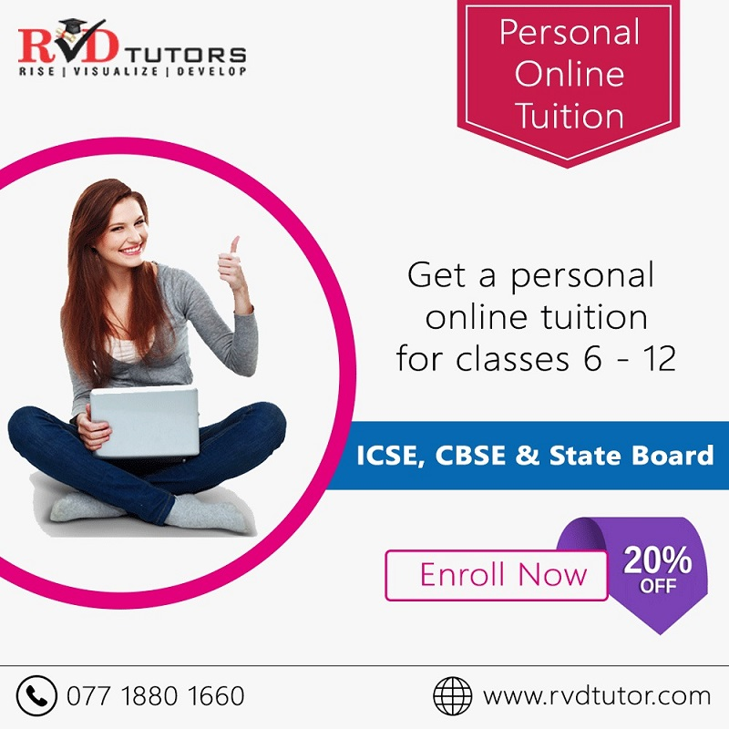 Get a Personal Online Tuition for class 6 12