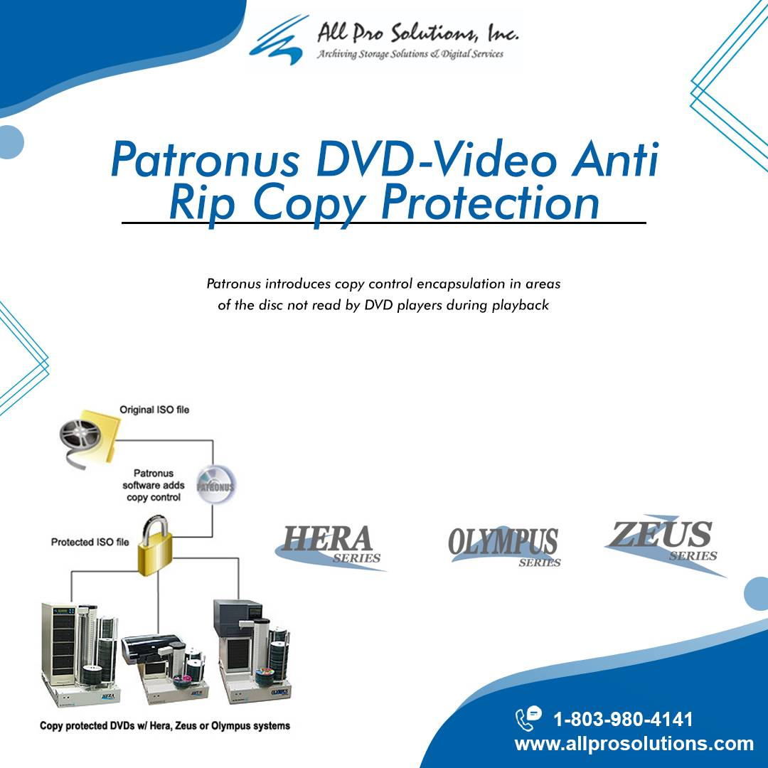 Get Patronus DVDVideo Anti Rip Copy Protection from All Pro Solutions