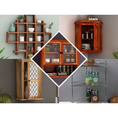 Grand Sale! on Kitchen Racks and Stands Online at Lowest Price Woodenstree...