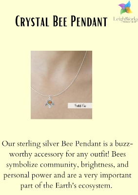 Buy this adorable Crystal bee pendant