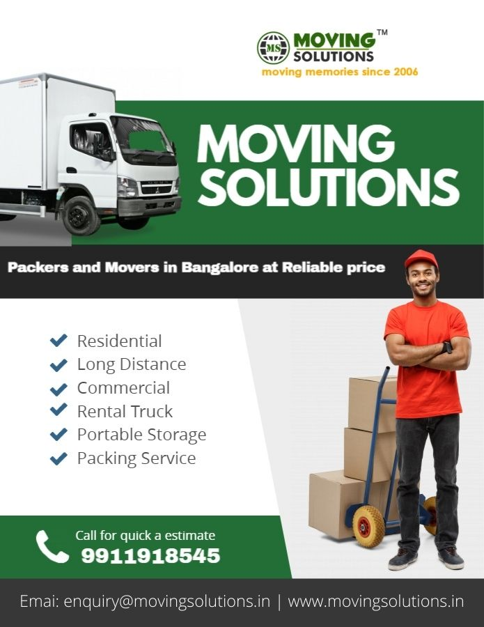 Hire packers and movers in Bangalore at Reliable price