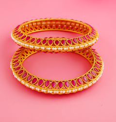 Latest bangles for bride collection online for women by Anuradha Art jewell...