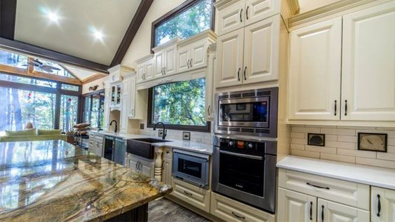 Stay at home during kitchen cabinets remodeling