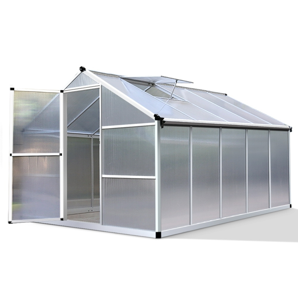 Greenfingers Greenhouse Aluminium Green House Garden Shed Greenhouses 3.02x...