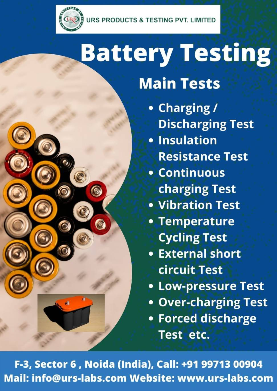 Safety Quality BatteriesCells Testing labs in Bhubaneswar