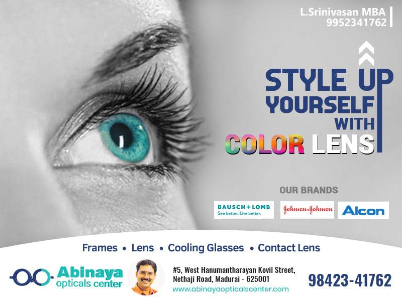 Upgrade yourself with stylish color lens of branded products.