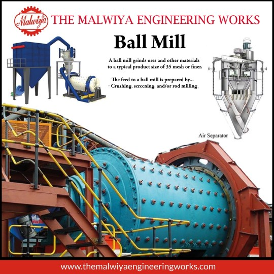 Ball mill machines manufacturer in India The Malwiya Engineering Works