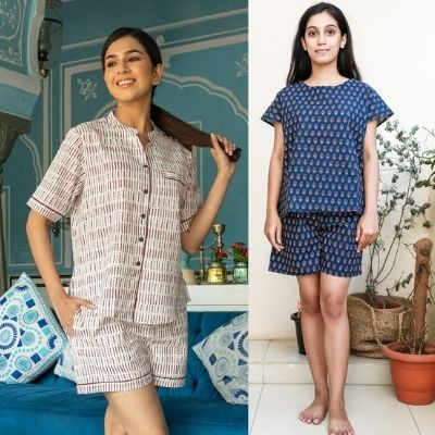 Buy Night Short Sets For Women Online at Low Price from MyclosetStory
