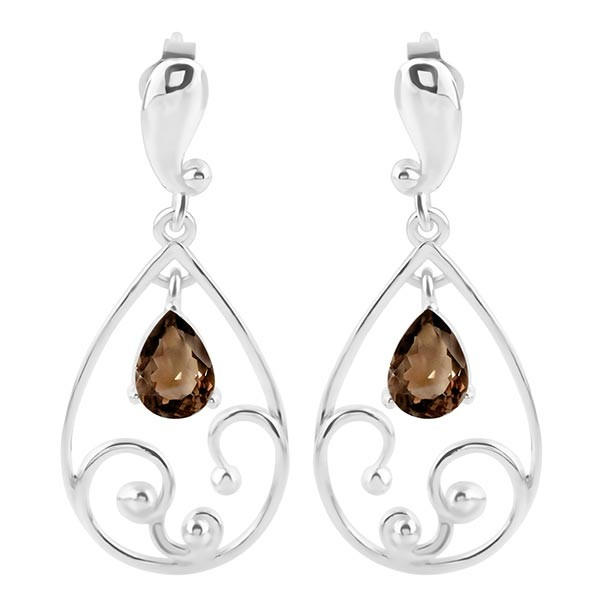 Collection Of Sterling Silver Smoky Quartz Jewelry.