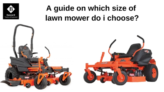 A guide on which size of lawnmower do I choose?