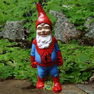 Make Your Garden Playful with Super Hero Garden Gnome Buy Made to Order Gn...