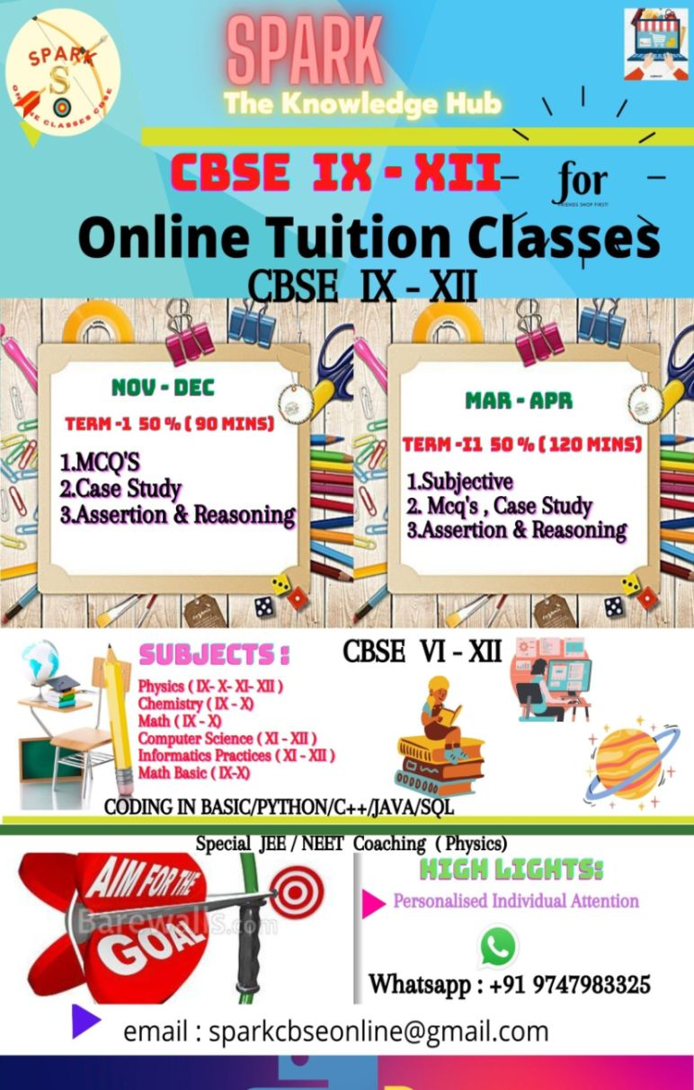 ONLINE TUITION CLASSES VIXII