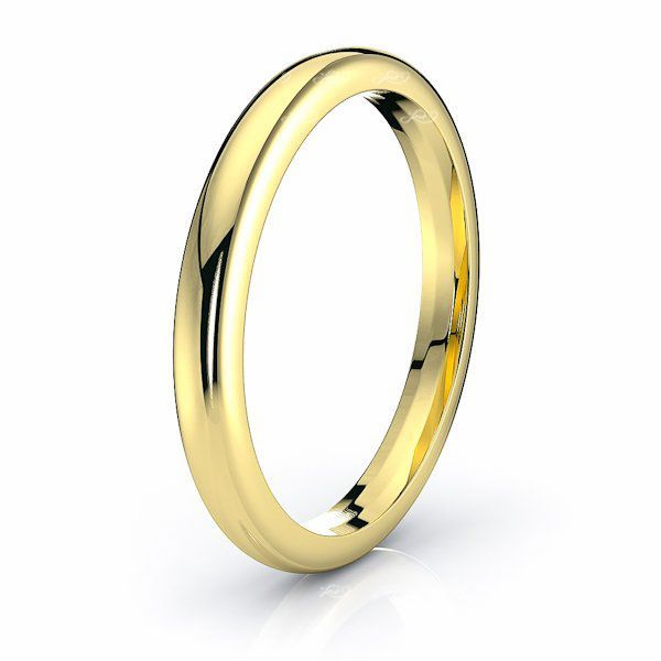 Solid Dome Comfort Fit Mens Wedding Band