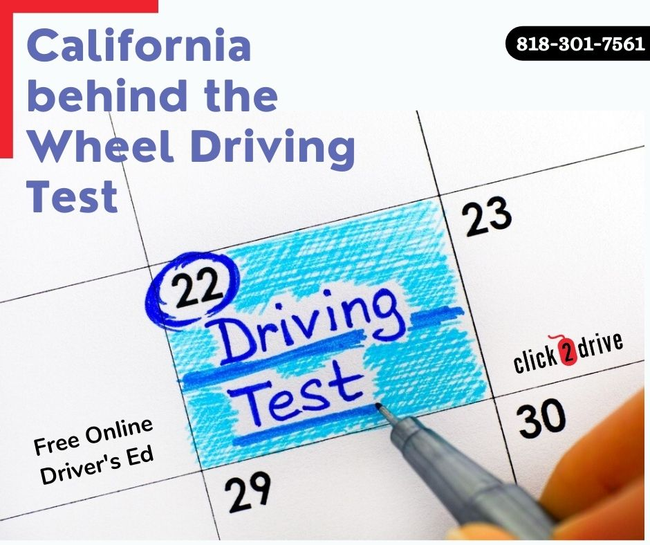California behind the wheel driving test