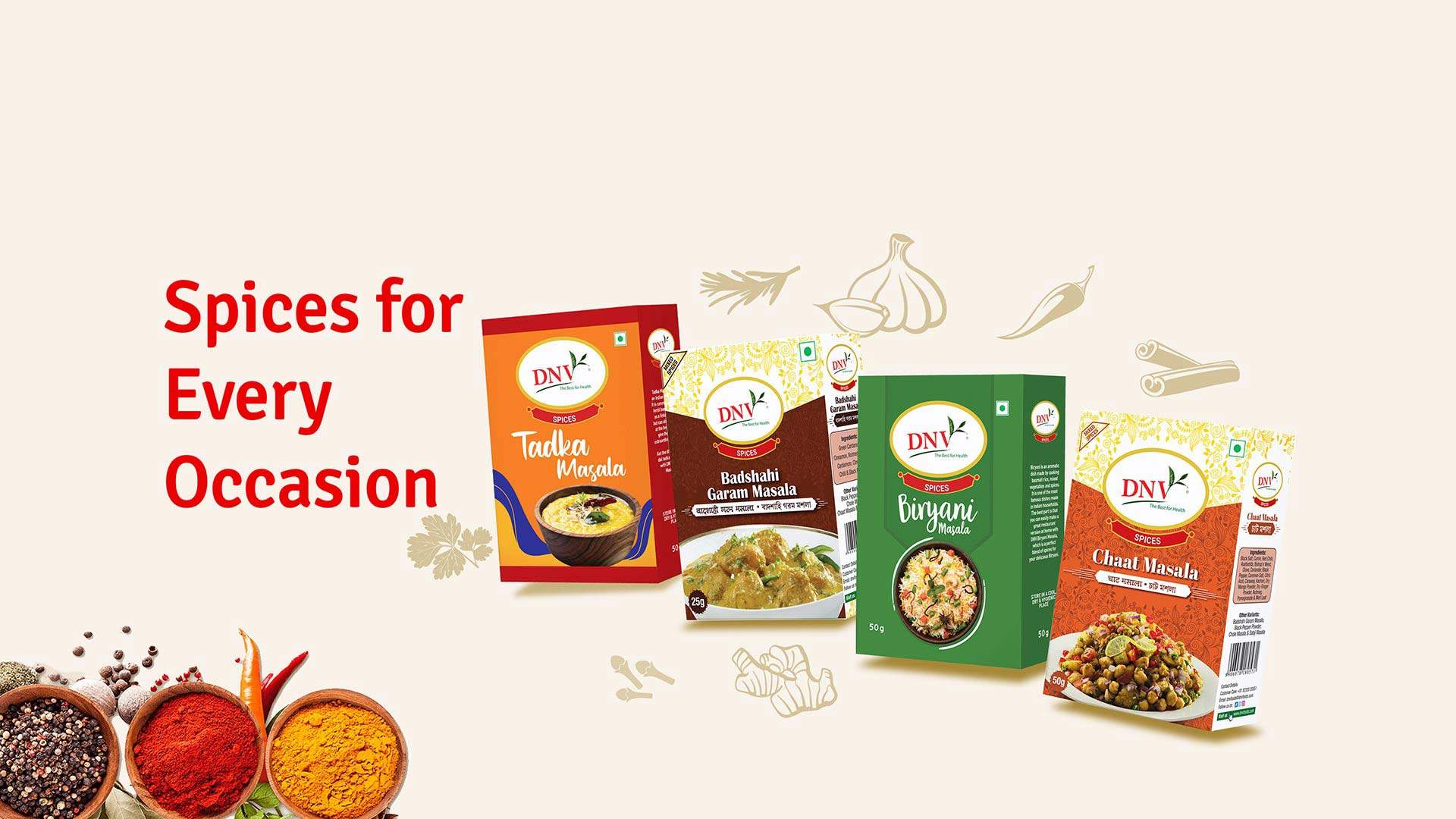 Dnvfoods best quality spices food suppliers in Kolkata, india