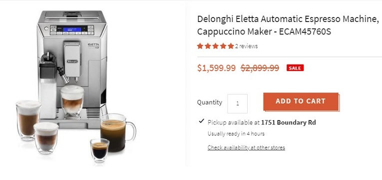 Get Amazing Offers of Delonghi Espresso Machines at Espresso Dolce