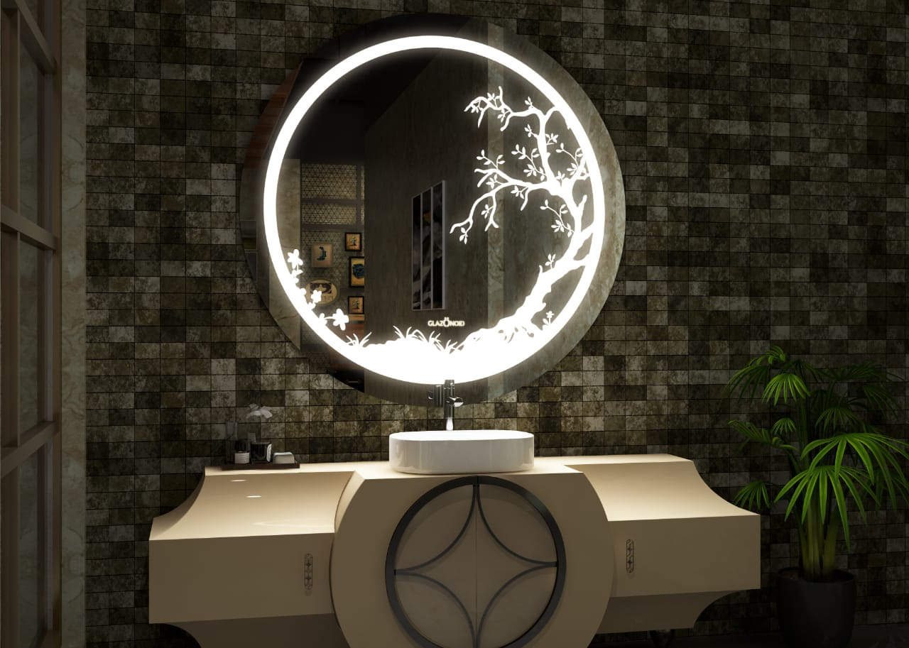 Makeup Mirror with LED Lights and Bluetooth