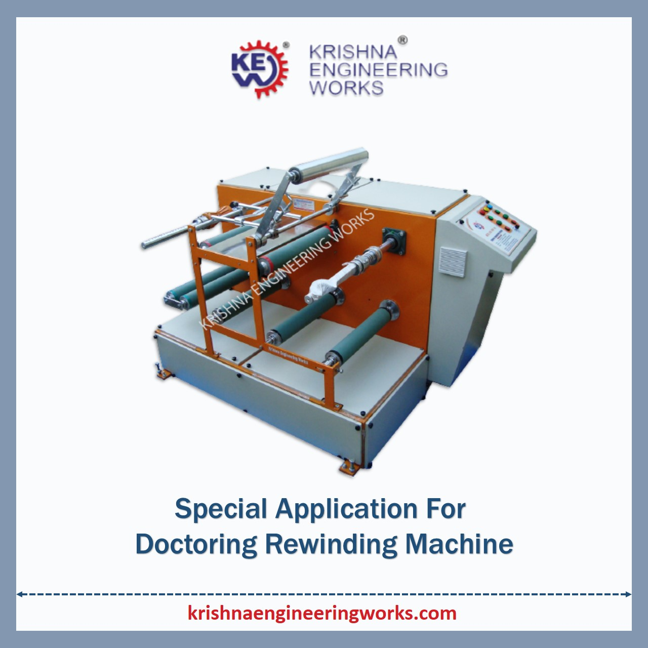Manufacturer of Special Application for Doctoring Rewinding Machine with Sl...