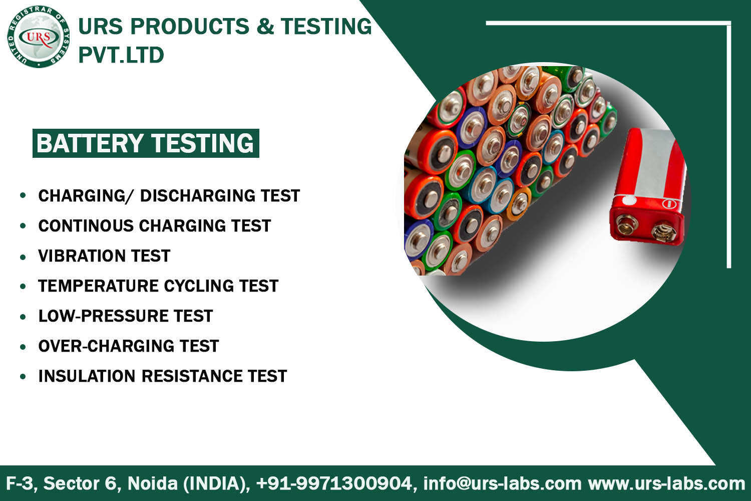 Safety Performance Testing By Battery Testing labs in Bhubaneswar
