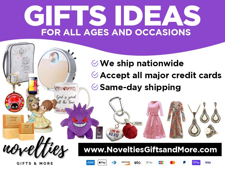 We sell Novelties, Souvenirs and Gift items