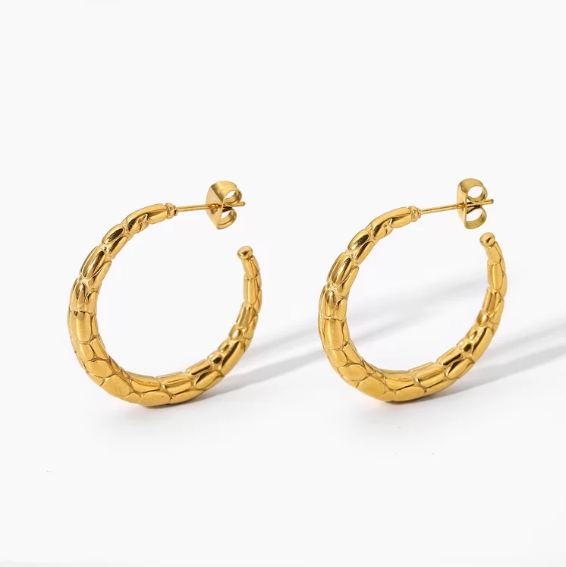 Buy Gold Crescent Moon Hoop Earrings From VT Casual