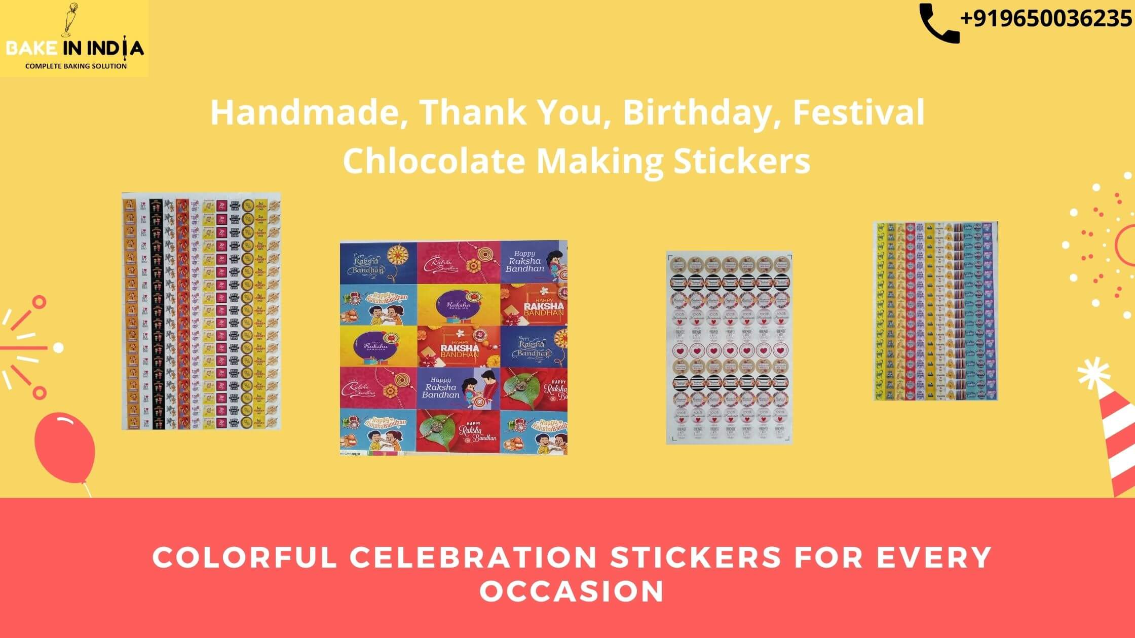 Colorful Celebration Stickers For Every Occasion