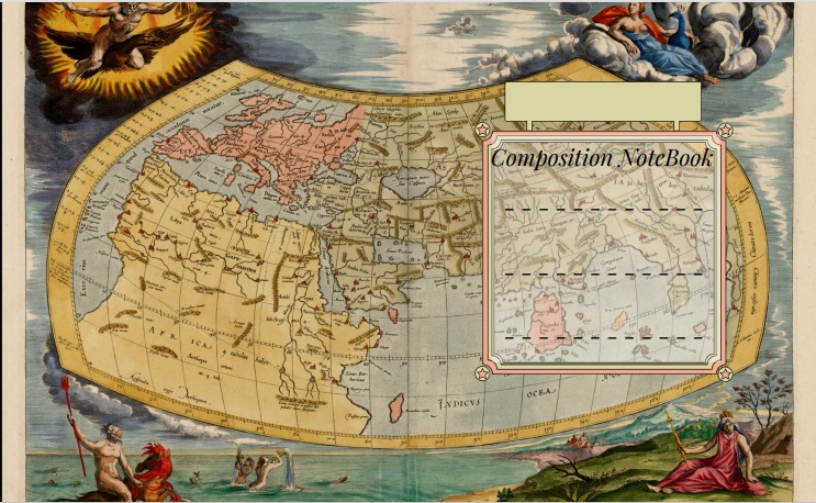 Composition Notebook Old World Map COVER