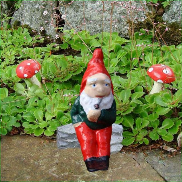 Decorate Your Garden with Handmade Traditional Small Gnome Buy Online from...