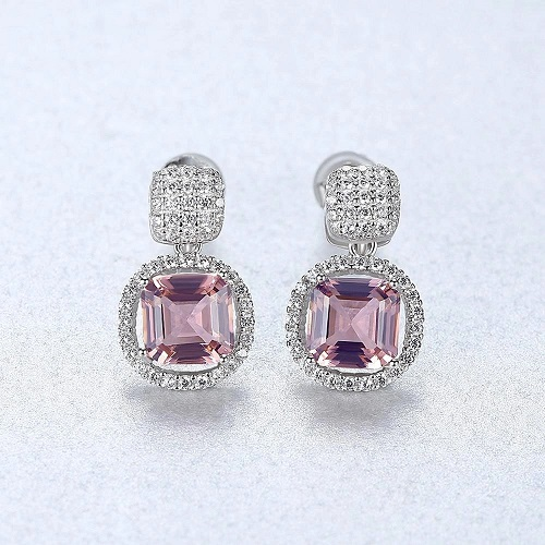 For A Stunning Pair Of Pink Topaz Earrings For Brides Visit The Wedding Gar...
