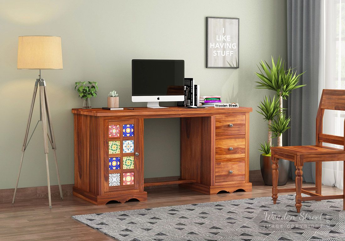 Get wonderful discount on work from home table at Wooden Street