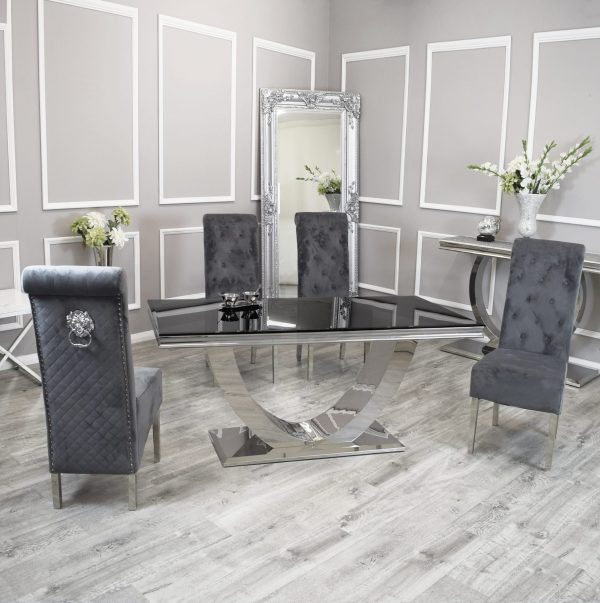 marble dining tables and 6 chairs in England