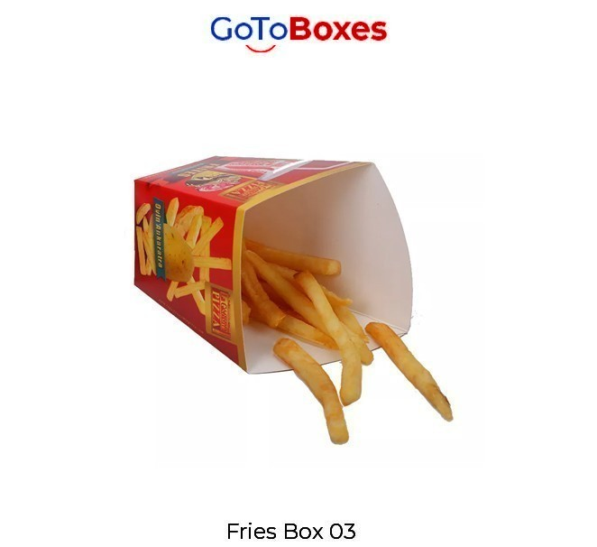 Perfect and charming French Fry Boxes designed by GoToBoxes