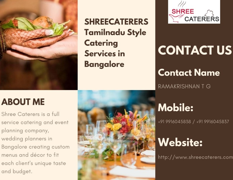 Tamilnadu Style Catering Services in Bangalore