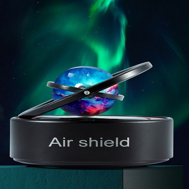 A fully solarpowered aroma diffuser that uses a Galaxy planet ball top to h...