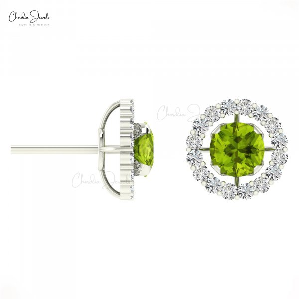 Buy Unique Peridot Earrings August Birthstone for women at Chordia Jewels.
