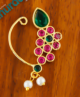 Checkout Latest Nath Collection Online at Anuradha Art Jewellery