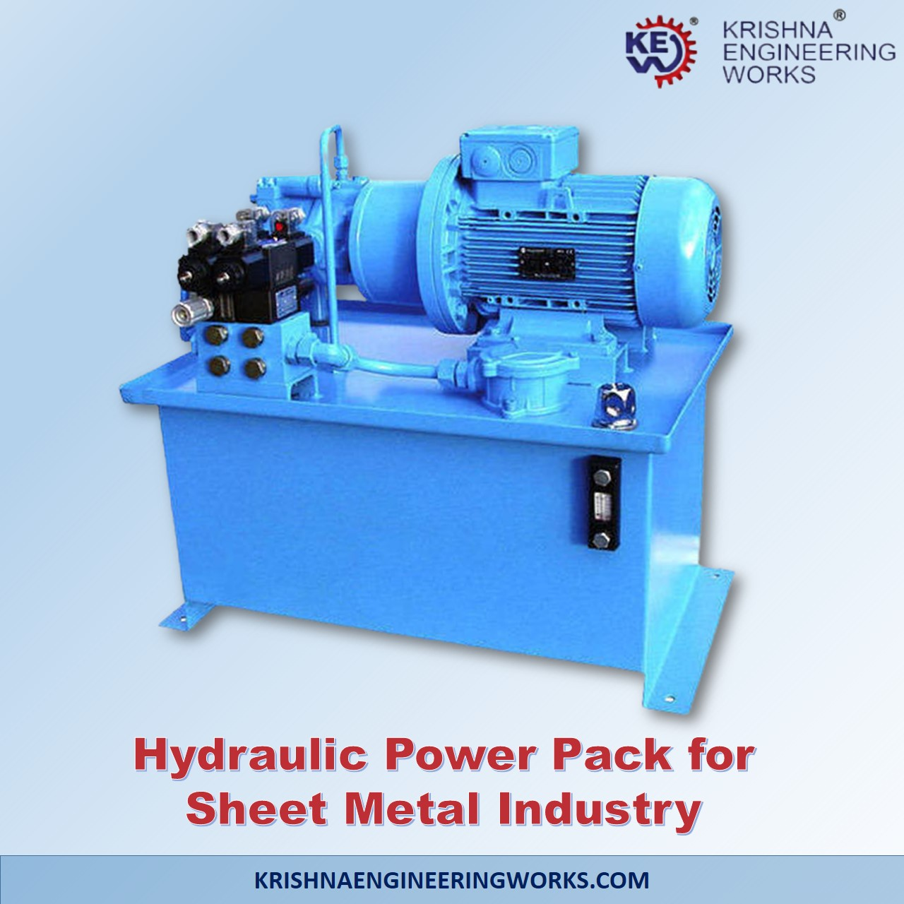 Manufacturer of Hydraulic Power Pack for Sheet Metal Industry Web Guiding ...