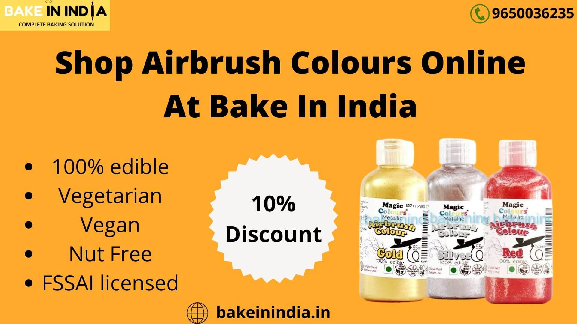 Shop Airbrush Colours online at Bake In India