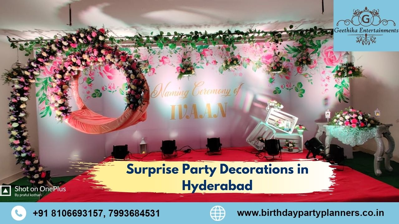 Surprise Party Decorations in Hyderabad